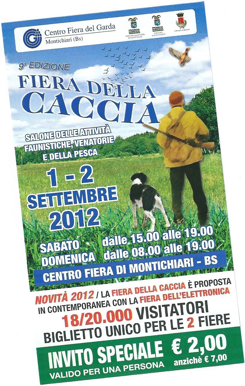 Calendario Fiera Montichiari.Fiera Della Caccia Montichiari 1 2 Settembre